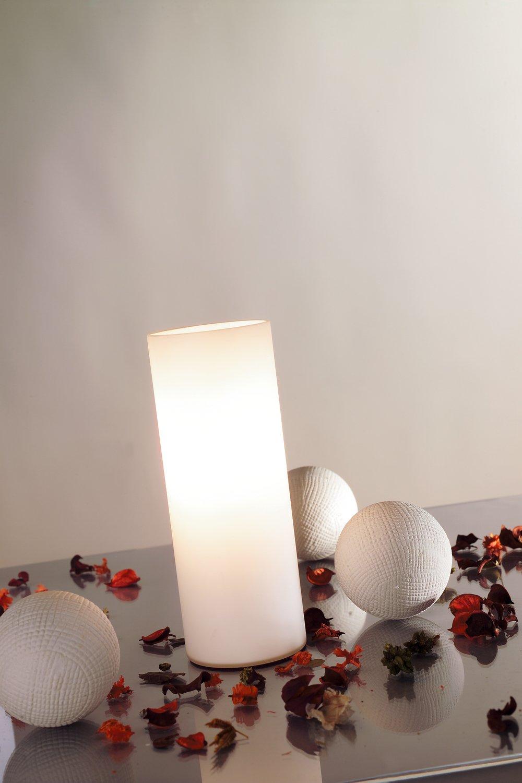 LED-tafellamp Noora E14 max. 42W Opaal
