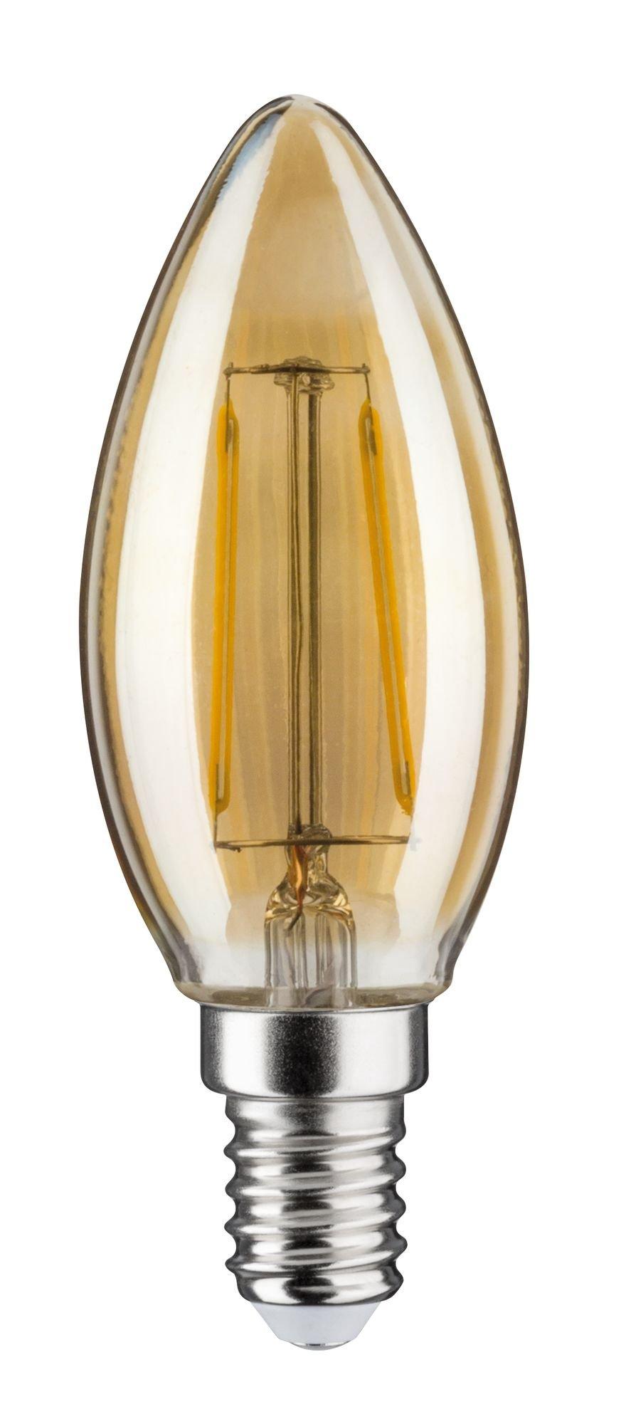 LED Kerze Filament E14 DC 24V 140lm 2W 1900K Gold