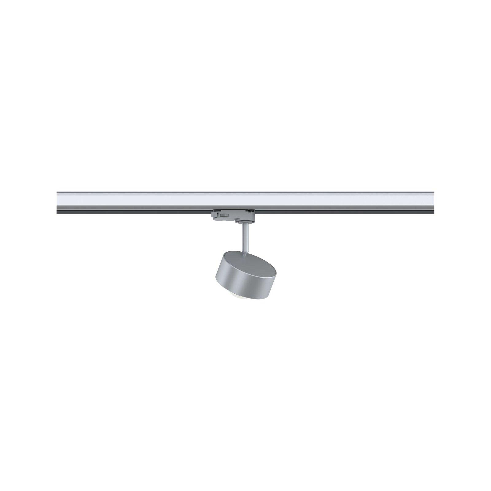 ProRail3 LED Schienenspot Aldan 800lm 8,2W 4000K 230V Silber/Schwarz