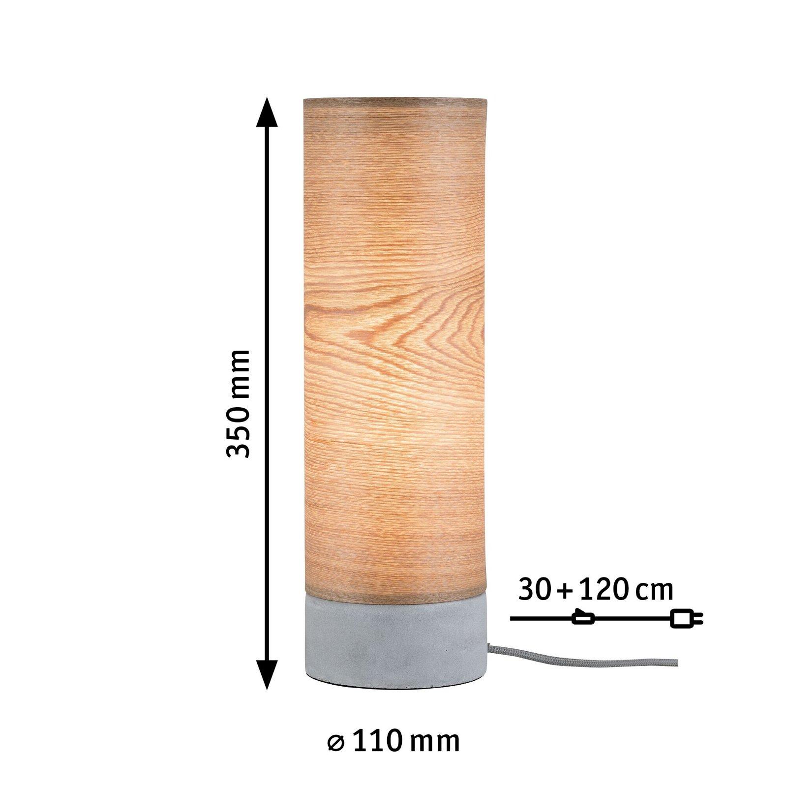 Neordic Tischleuchte Skadi E14 max. 20W Holz/Grau Holz/Beton
