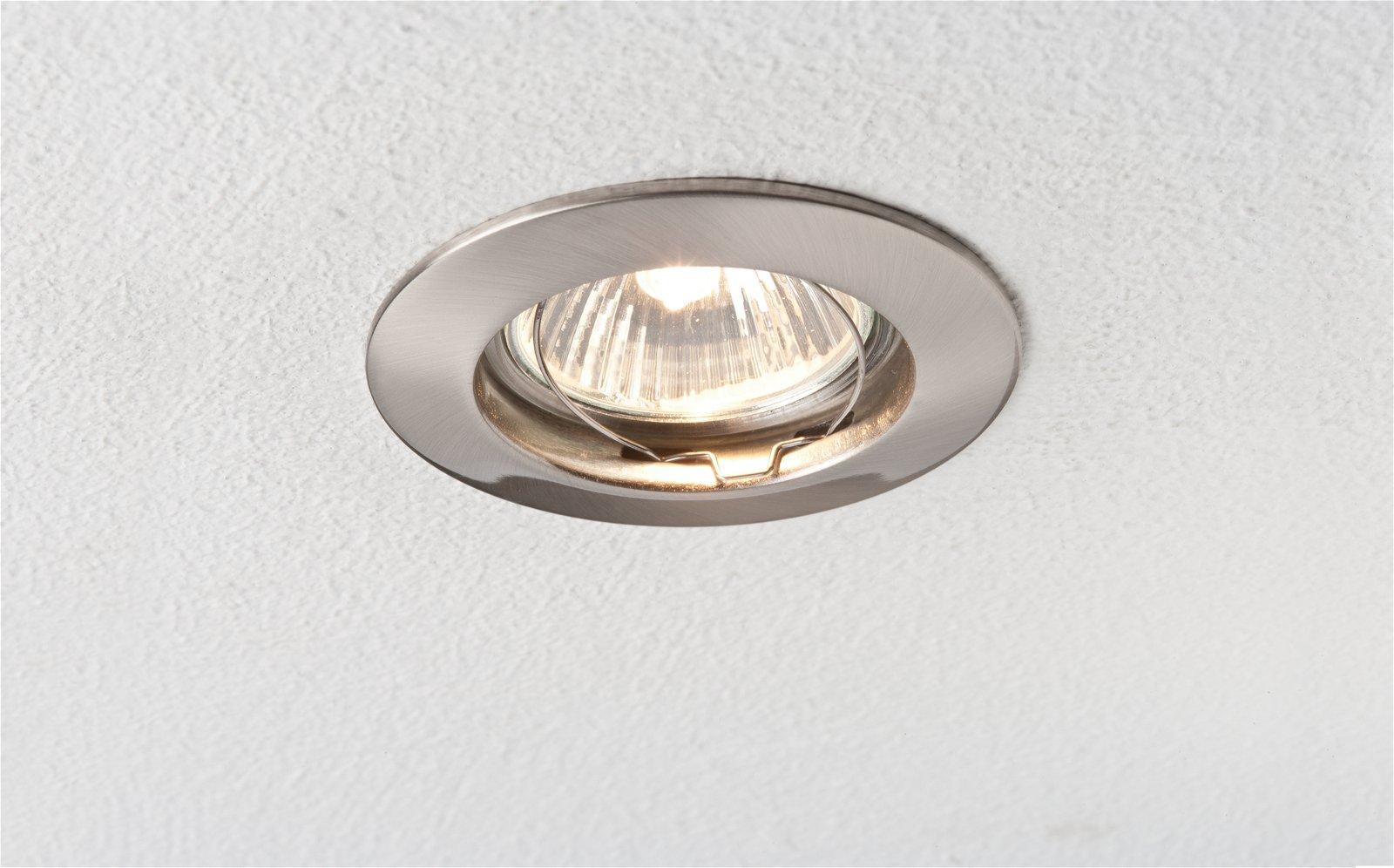 Premium LED-inbouwlamp Set van 3 star IP44 rond 79mm max. 3x50W Staal geborsteld