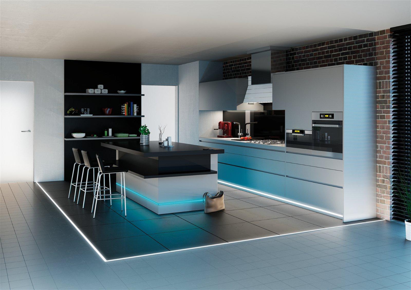 LED Strip inbouwprofiel Floor 2.010x27mm Alu/Satijn