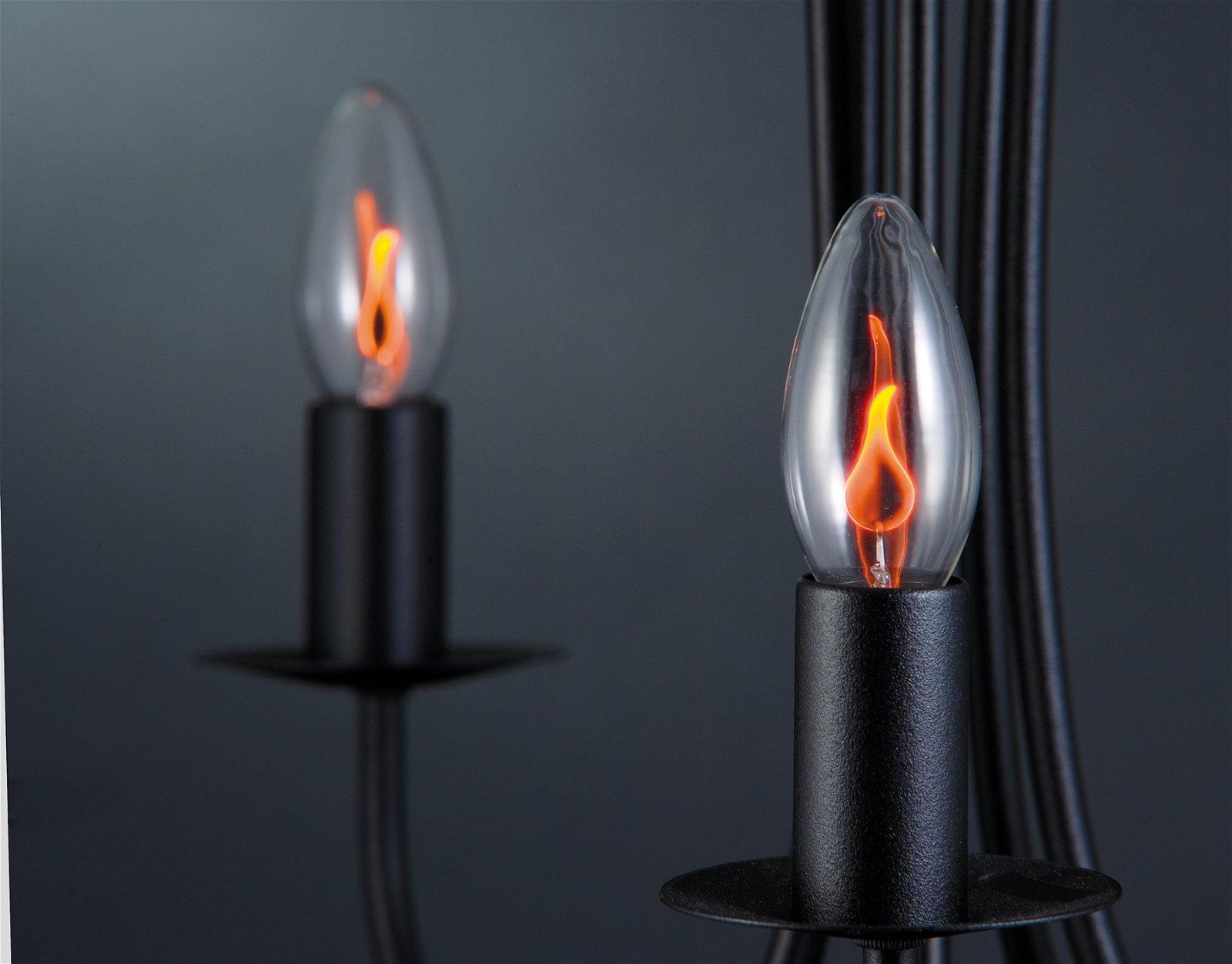 Ampoule à incandescence Flamme scintillante E14 230V 1lm 3W Clair