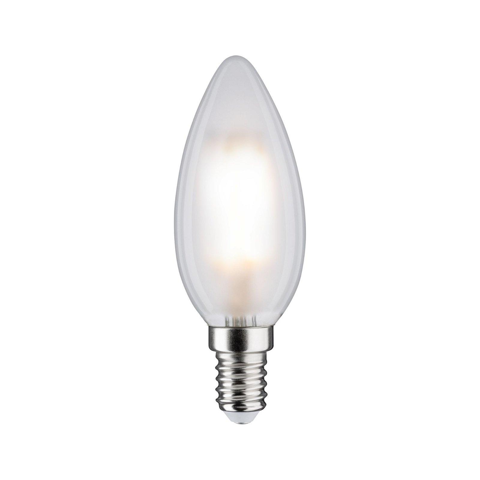 LED Kerze Filament E14 230V 470lm 5W 4000K Matt/Weiß