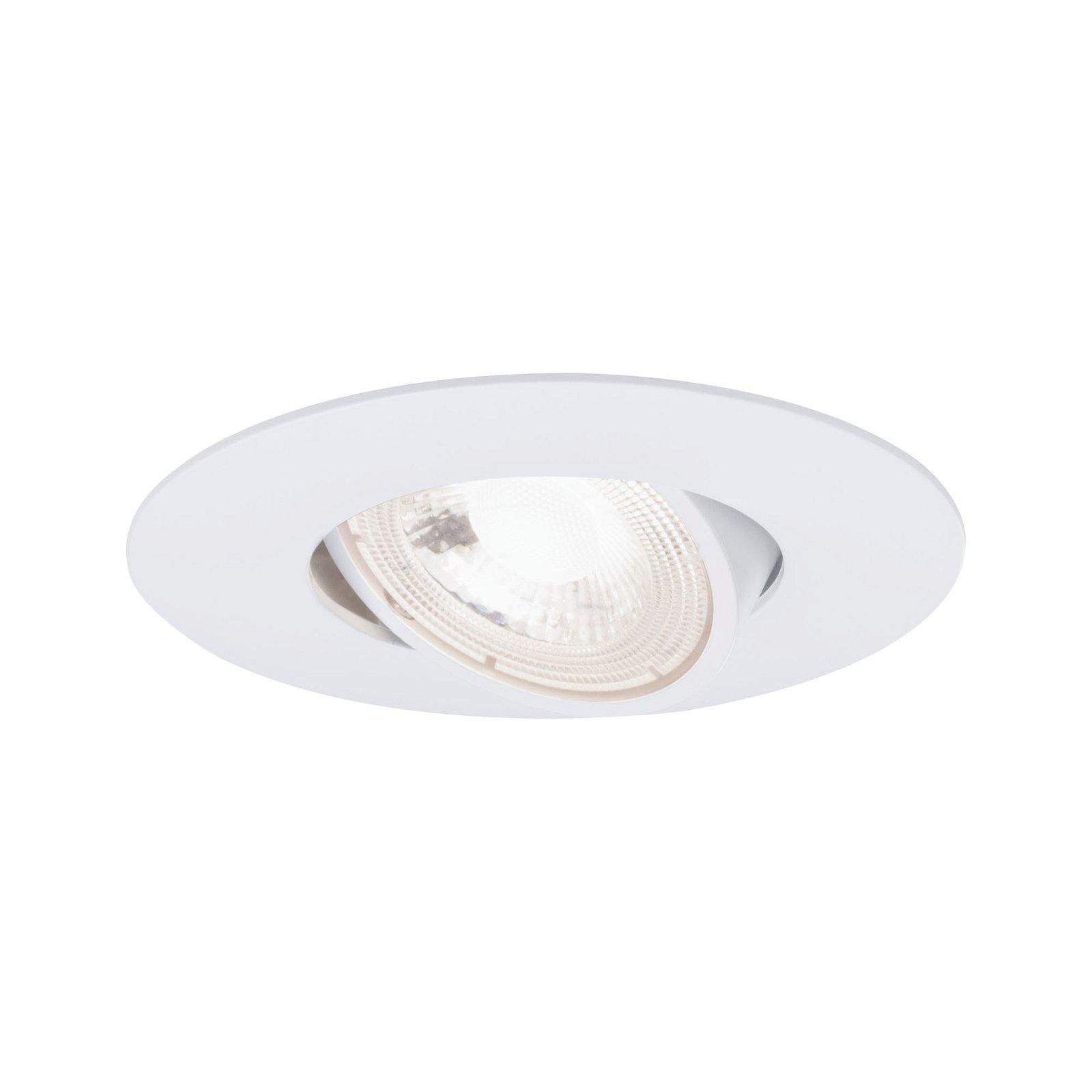LED Einbauleuchte 3er-Set schwenkbar rund 90mm 50° 3x5W 3x515lm 230V 3000K Weiß