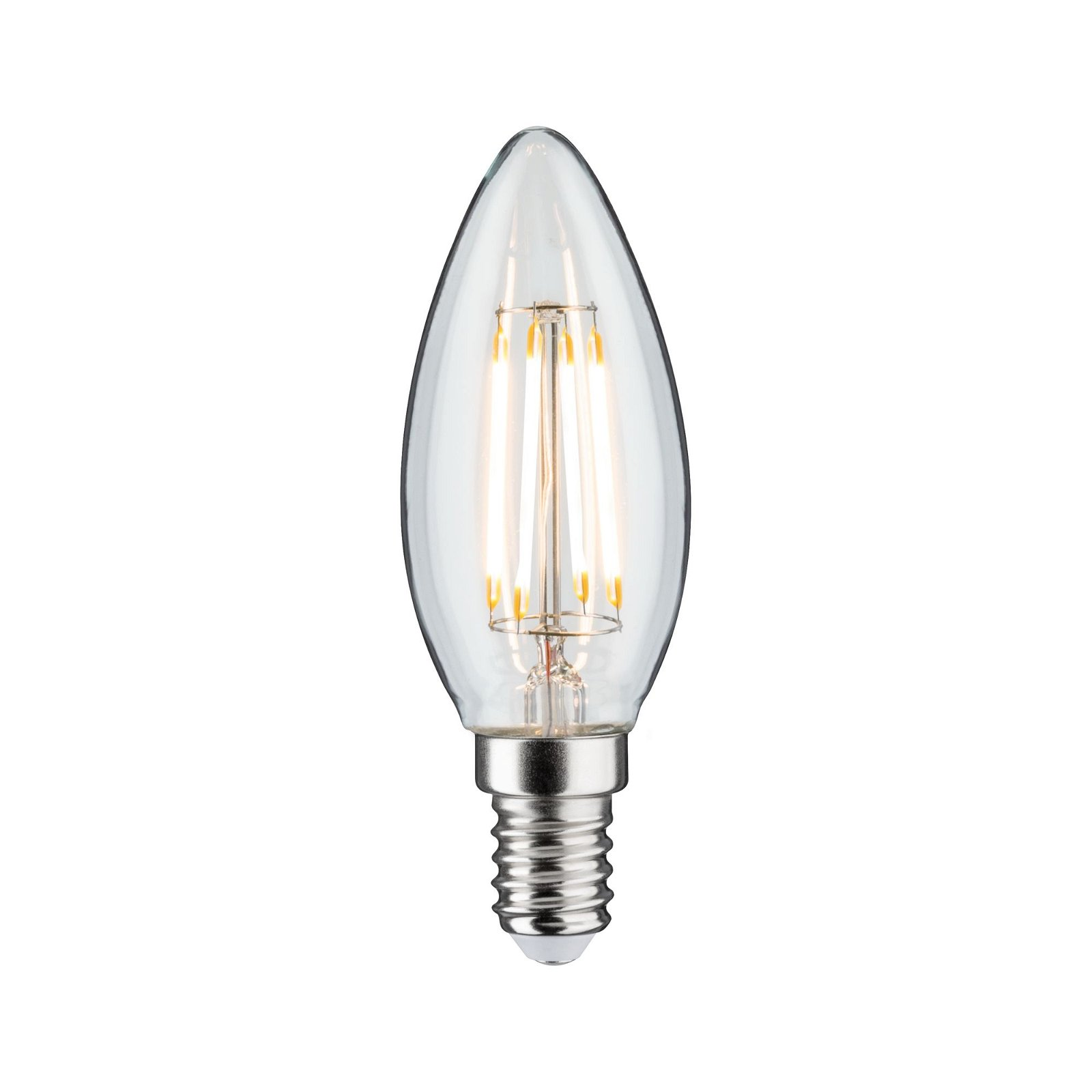 LED Kerze Filament E14 230V 470lm 4,8W 2700K Klar