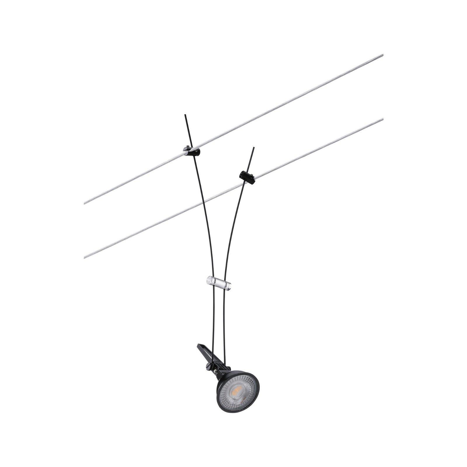 Seilsystem Comet Einzelspot GU5,3 max. 50W 12V Schwarz matt