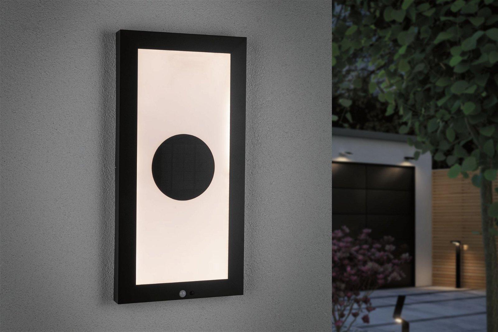 Solar LED Panel Taija Bewegungsmelder IP44 3000K 180lm Anthrazit