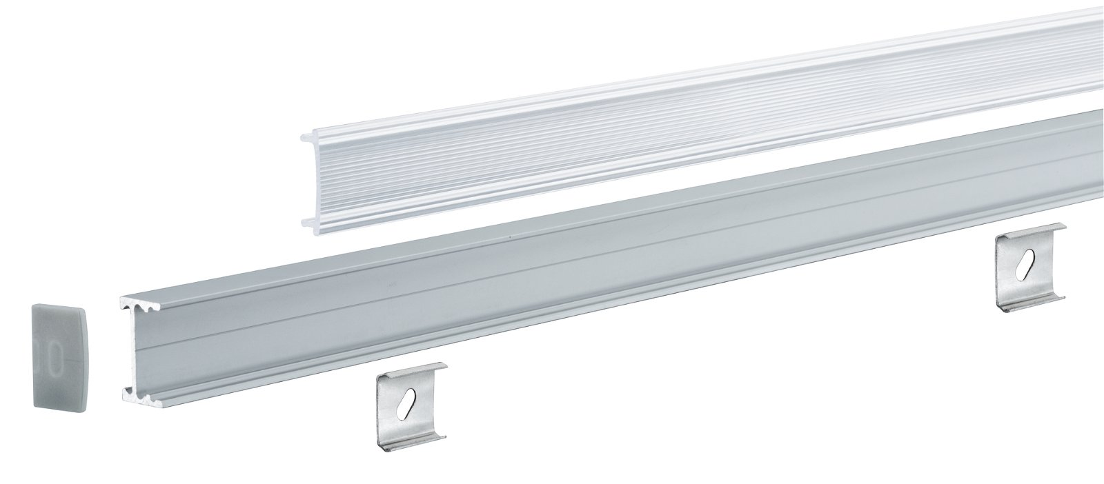 LED Strip profiel Square 1m Alu/Satijn