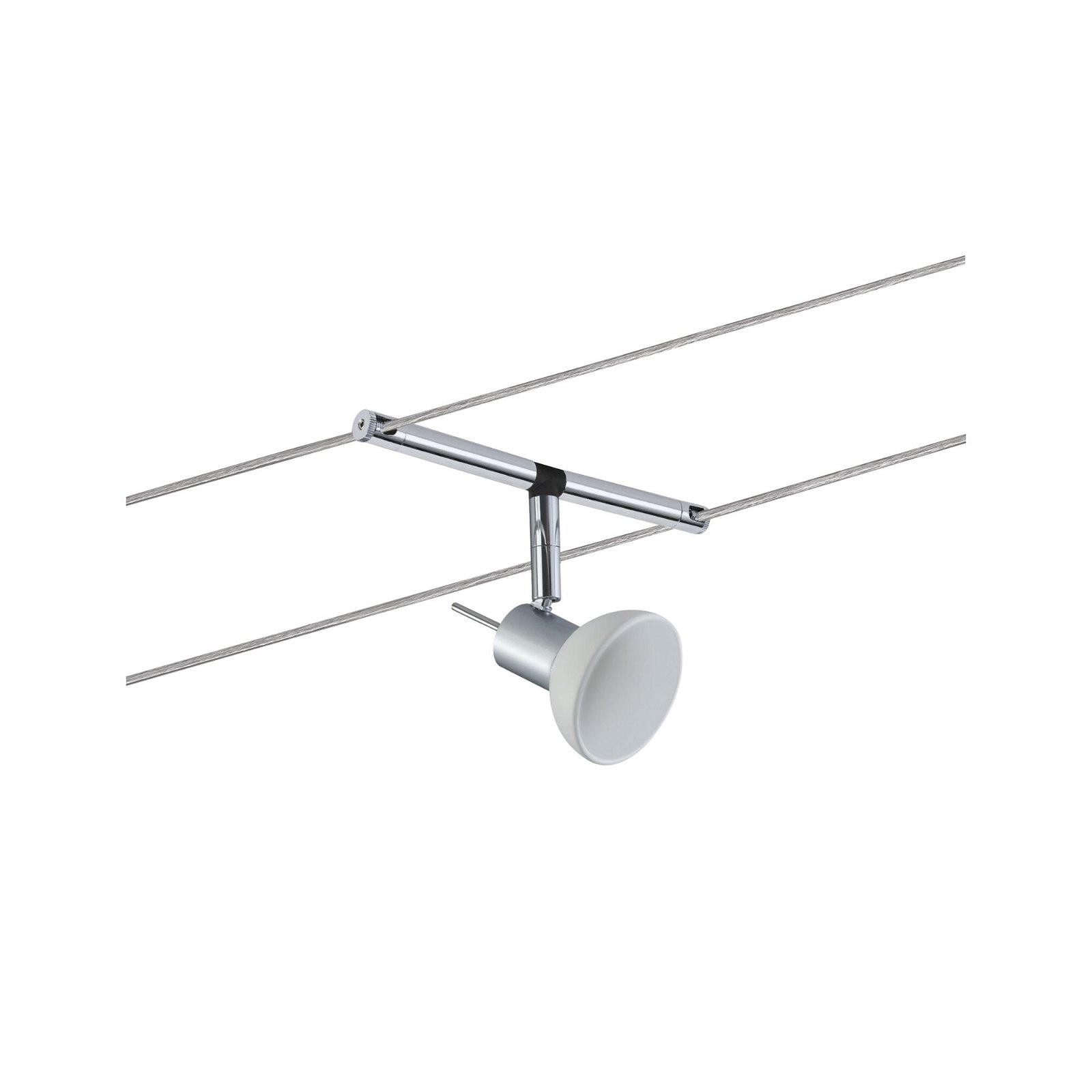 Seilsystem Sheela Einzelspot GU5,3 max. 10W 12V Chrom matt/Opal