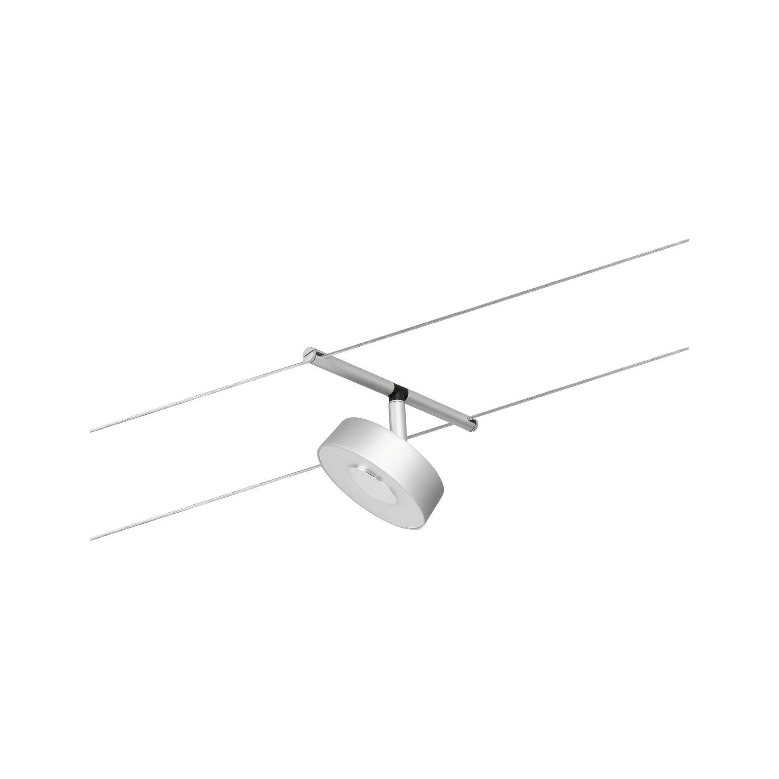 LED Seilsystem Circle Einzelspot 400lm 5W 3000K 12V Chrom matt/Chrom