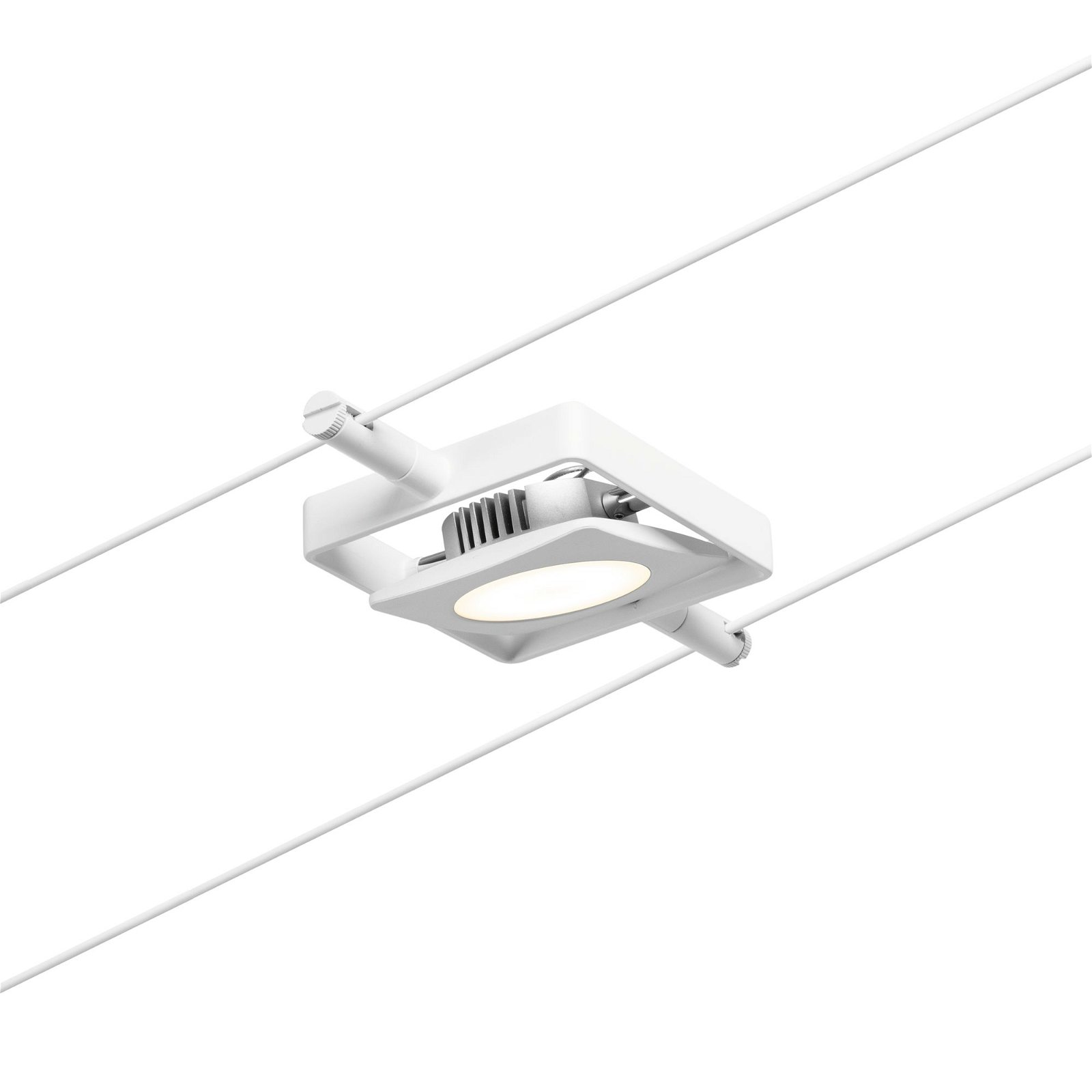 LED Seilsystem MacLED Einzelspot 450lm 4,5W 3000K 12V Weiß matt/Chrom