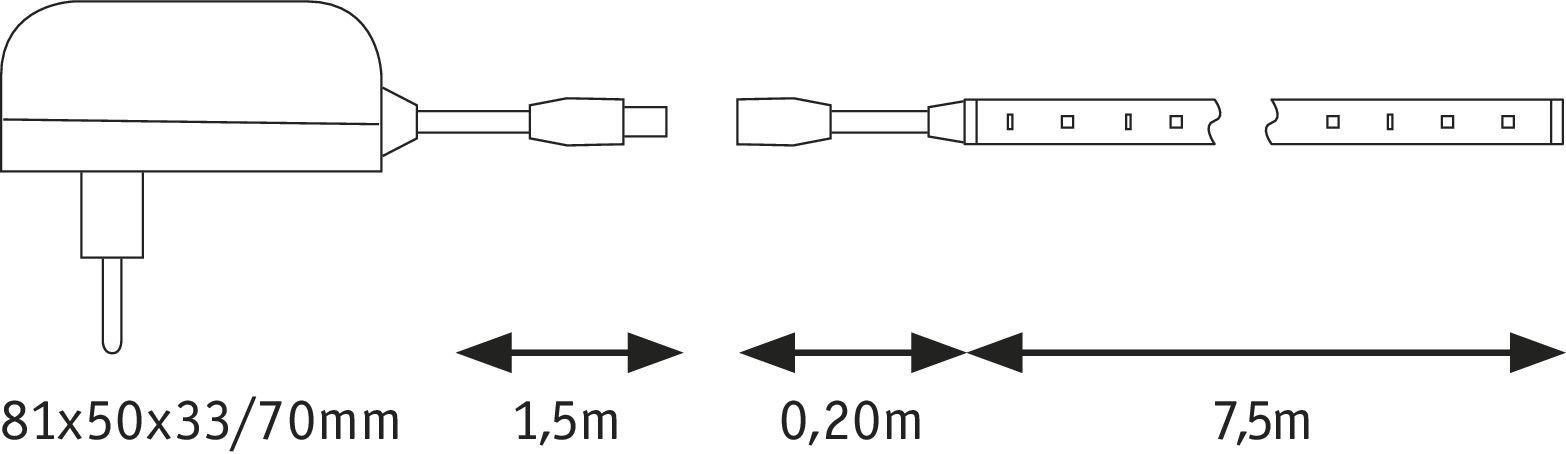 SimpLED LED Strip Tageslichtweiß 7,5m beschichtet 20W 187lm/m 6500K 24VA