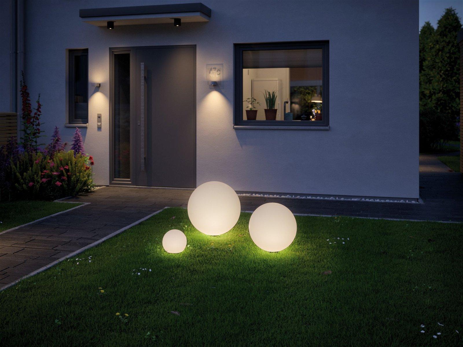 Plug & Shine LED Lichtobjekt Globe 200mm IP67 3000K 2,8W Weiß