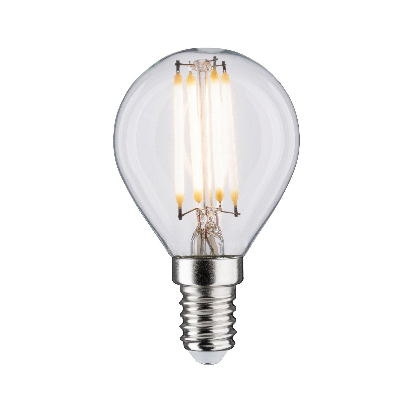 LED Tropfen Filament E14 230V 432lm 5W 2700K Klar