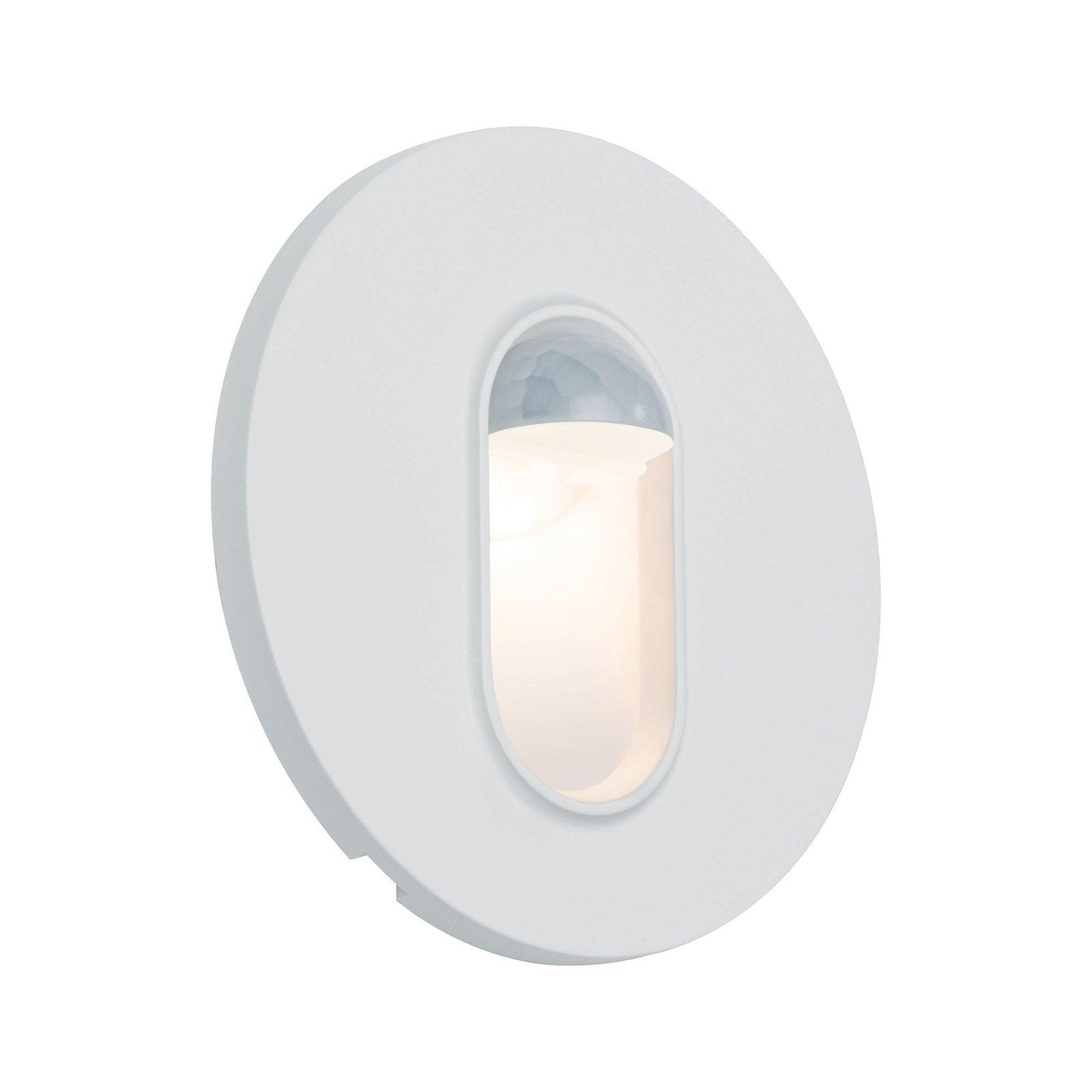 LED Wandeinbauleuchte Wall rund 78mm 2,7W 100lm 230V 2700K Weiß