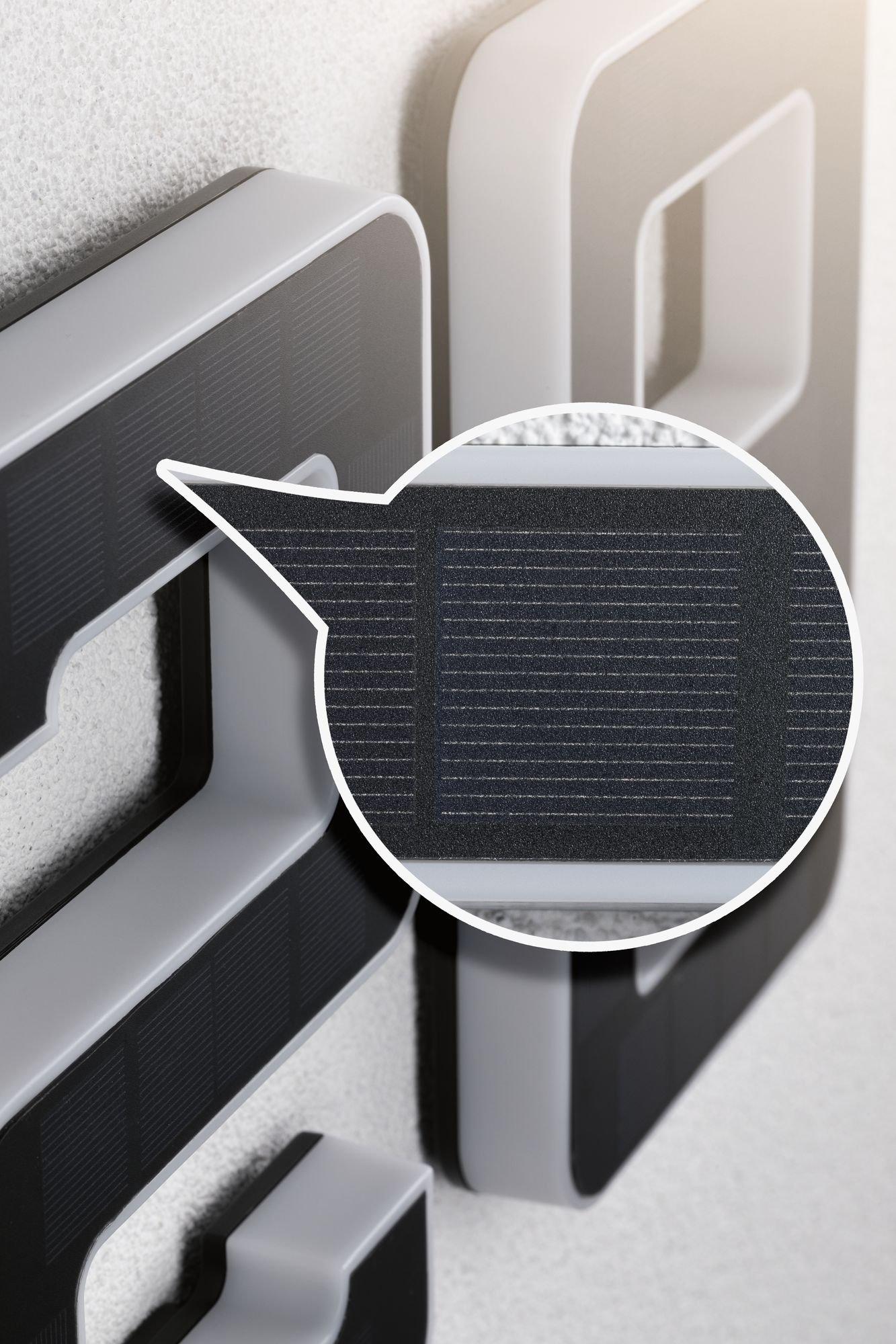 Solar LED-huisnummerverlichting Nummer 2 incl. vervangbare accu IP44 3000K 20lm Zwart
