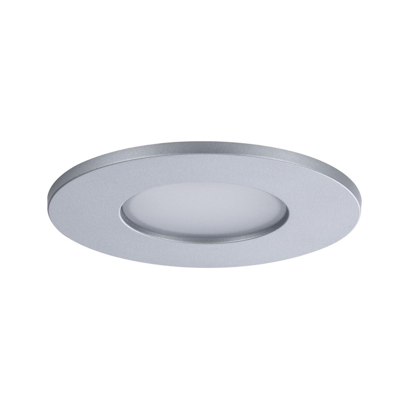 LED Einbauleuchte Calla Basisset schwenkbar IP65 rund 90mm 30° 3x6,5W 3x560lm 230V 4000K Chrom matt