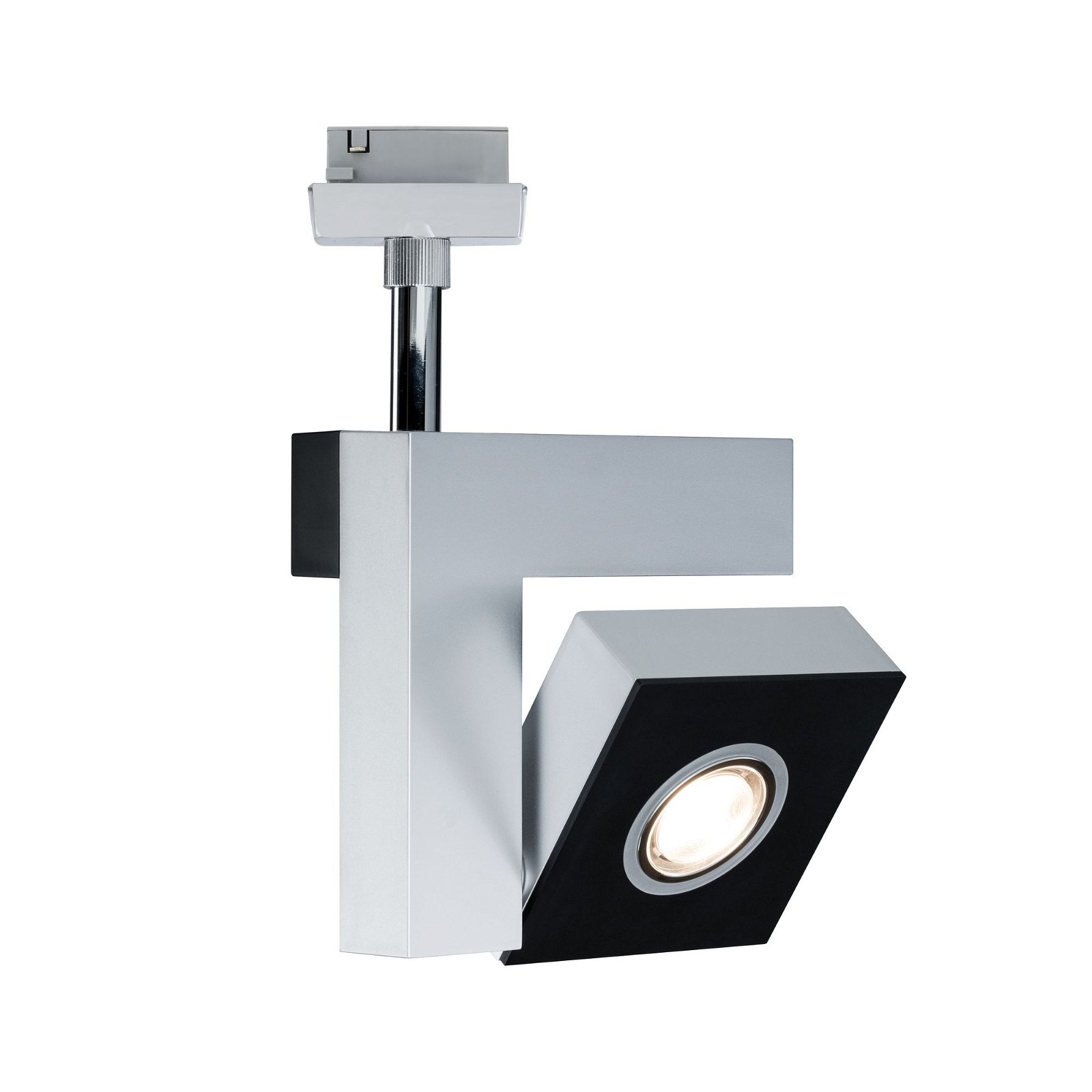 VariLine LED Spot Square 10W Chrom matt/Schwarz matt