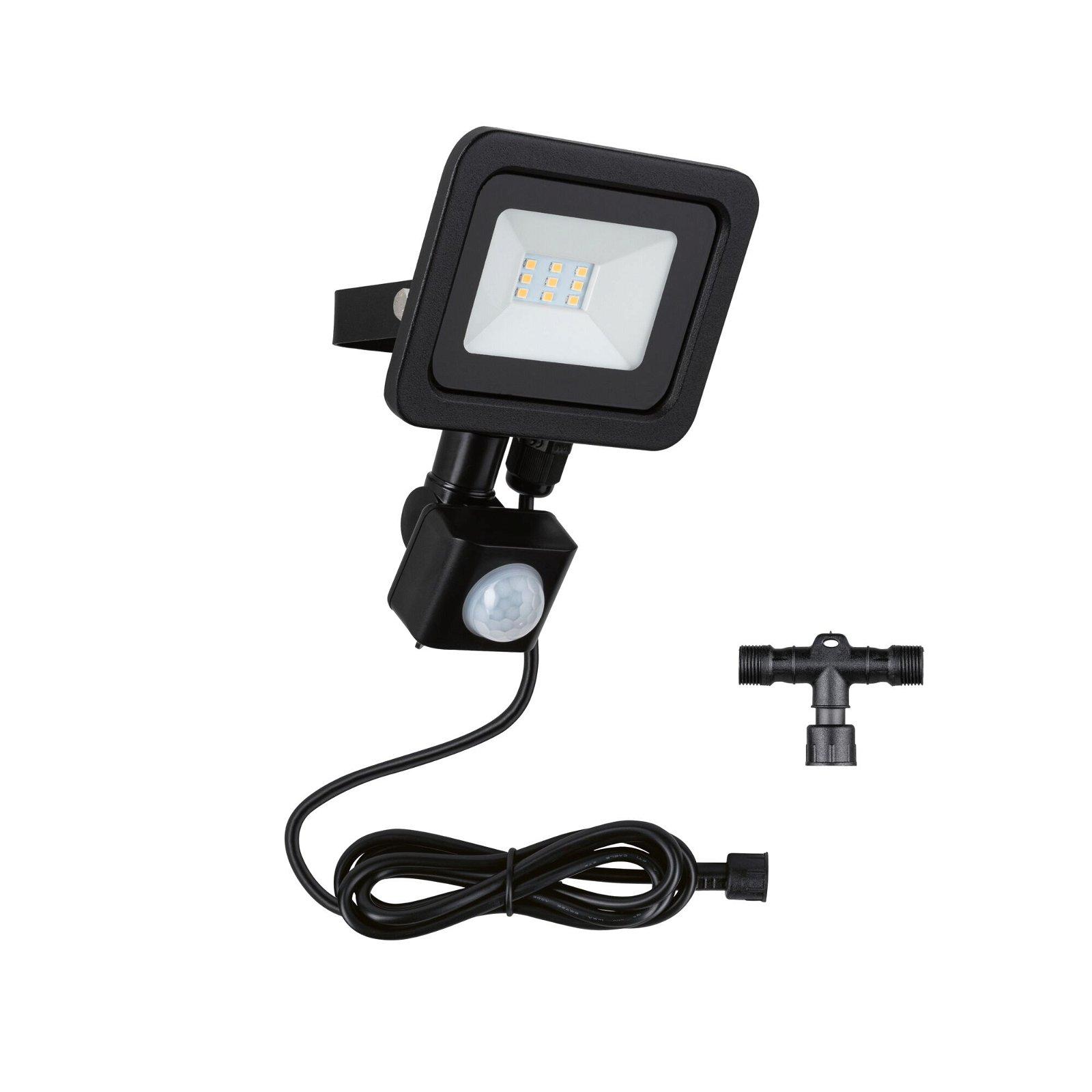 Park + Light LED Außenwandleuchte Bimea Bewegungsmelder IP65 3000K 4,5W Schwarz