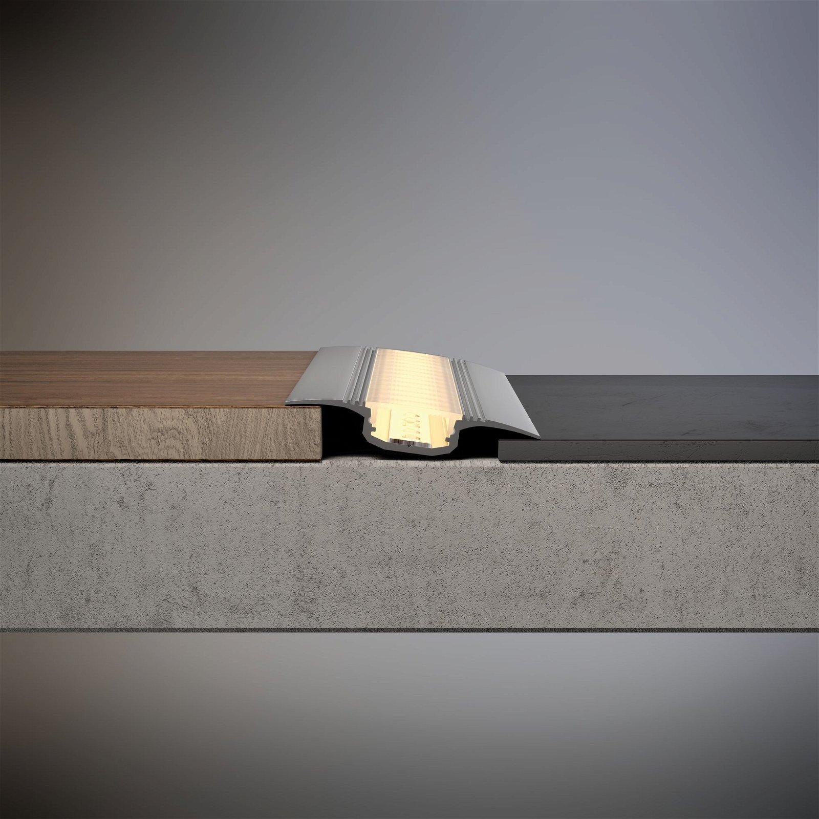 Profilé encastrable de strip LED Step 2m Alu anodisé/Satiné
