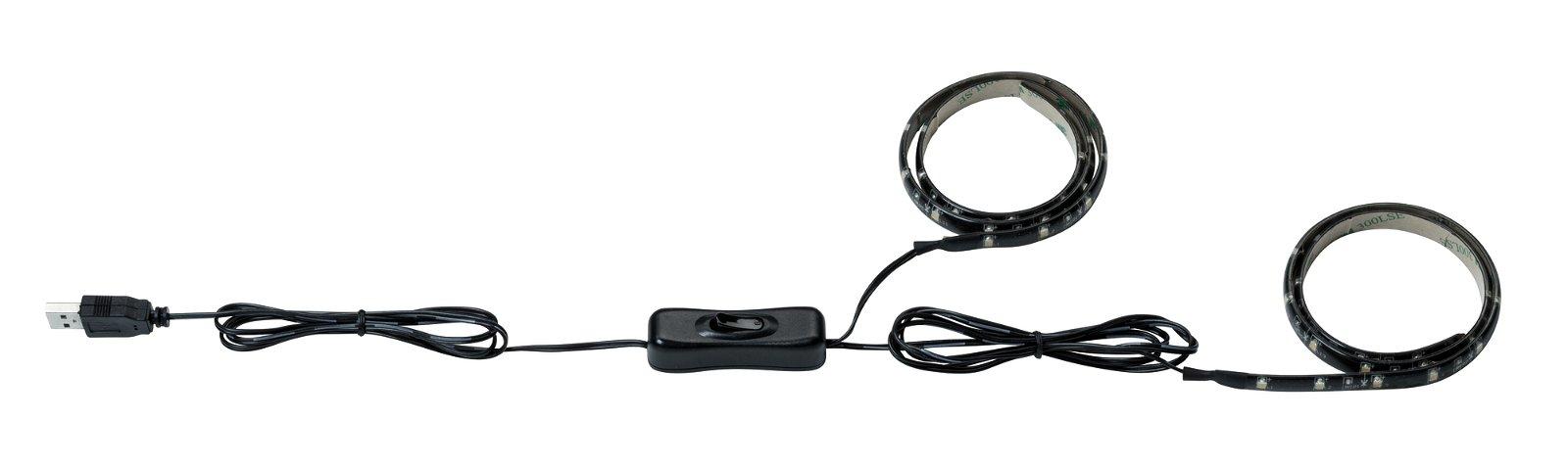 USB LED Strip 0,5m 2x1W 2x100lm 3000K