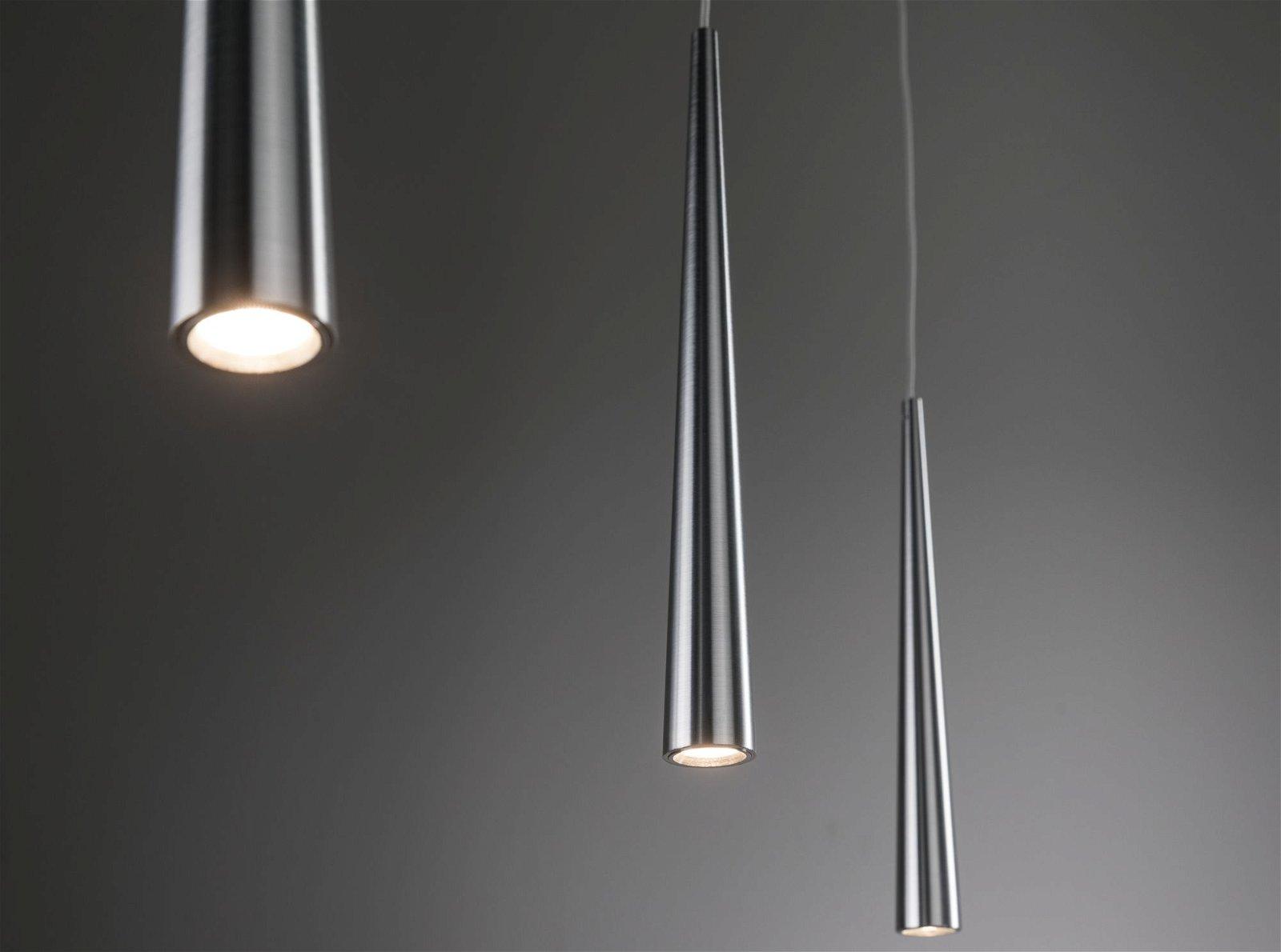 LED Pendelleuchte Gutta 2700K 3x600lm 3x7W Alu gebürstet