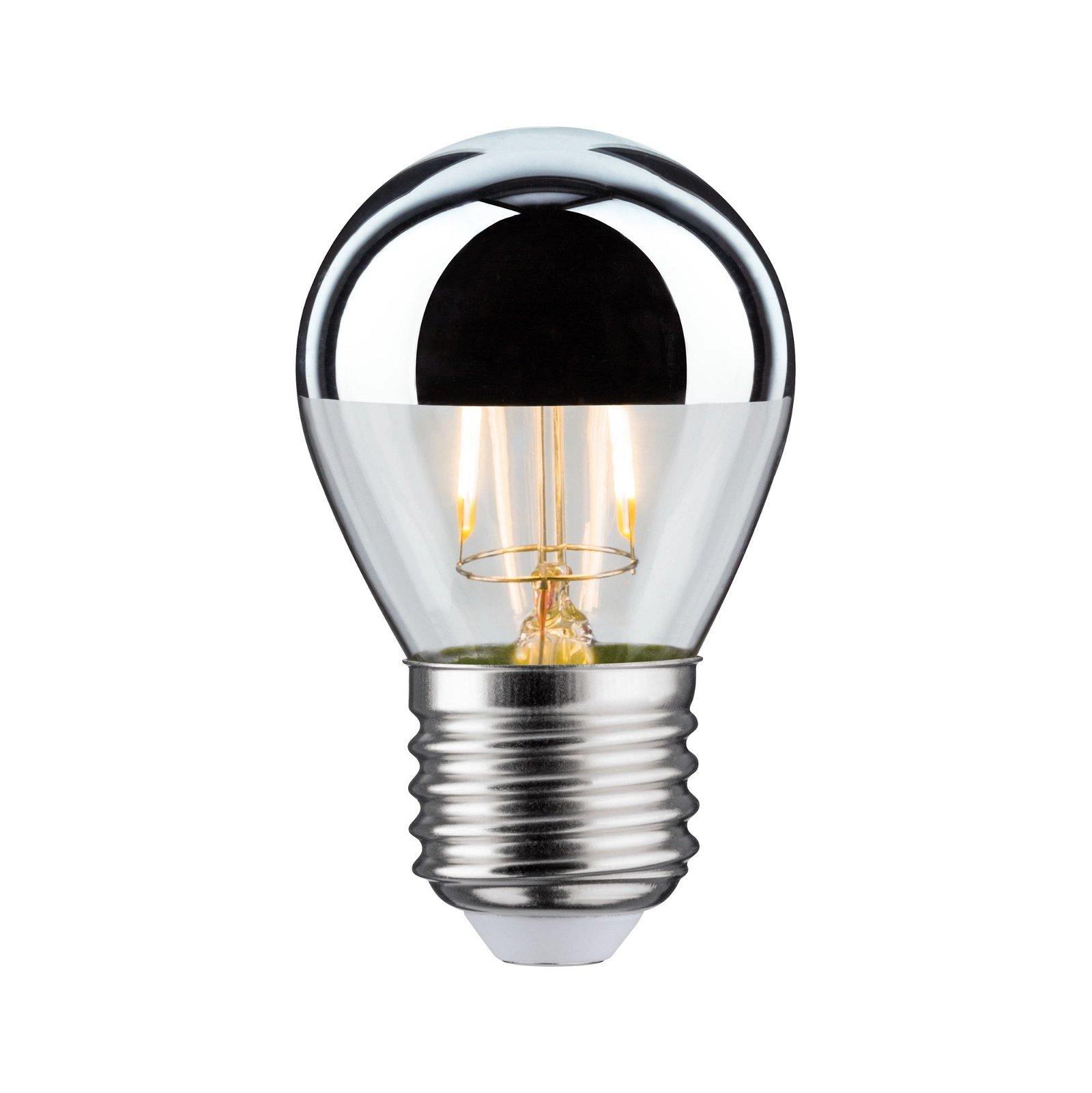 Modern Classic Edition LED Tropfen Kopfspiegel E27 230V 220lm 2,6W 2700K Kopfspiegel Silber