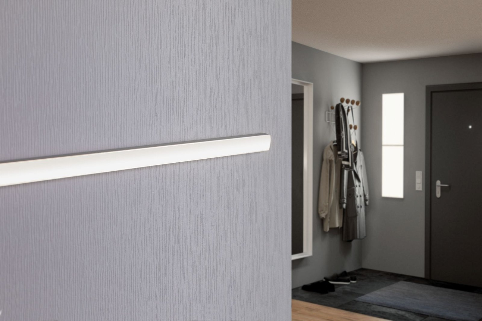 LED Strip profiel Base Witte diffusor 2m Alu geëloxeerd/Satijn