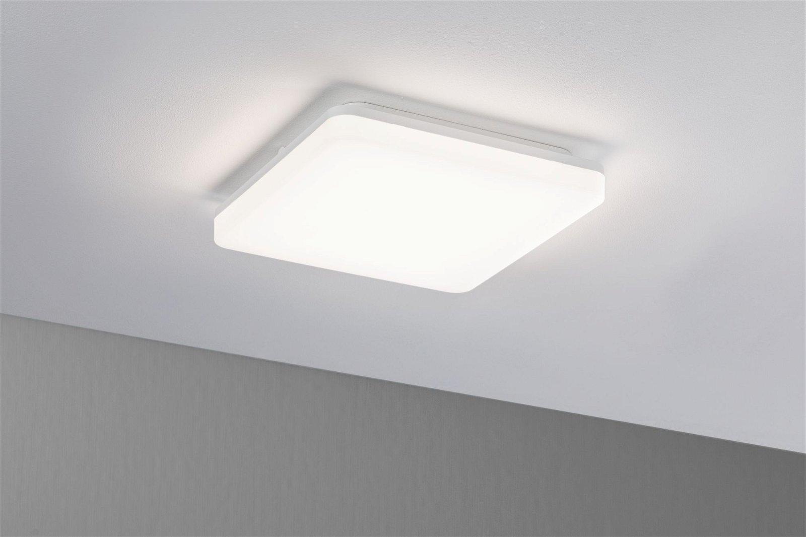 Panneau LED Cela IP44 carré 280x280mm 2200lm White Switch Blanc dépoli