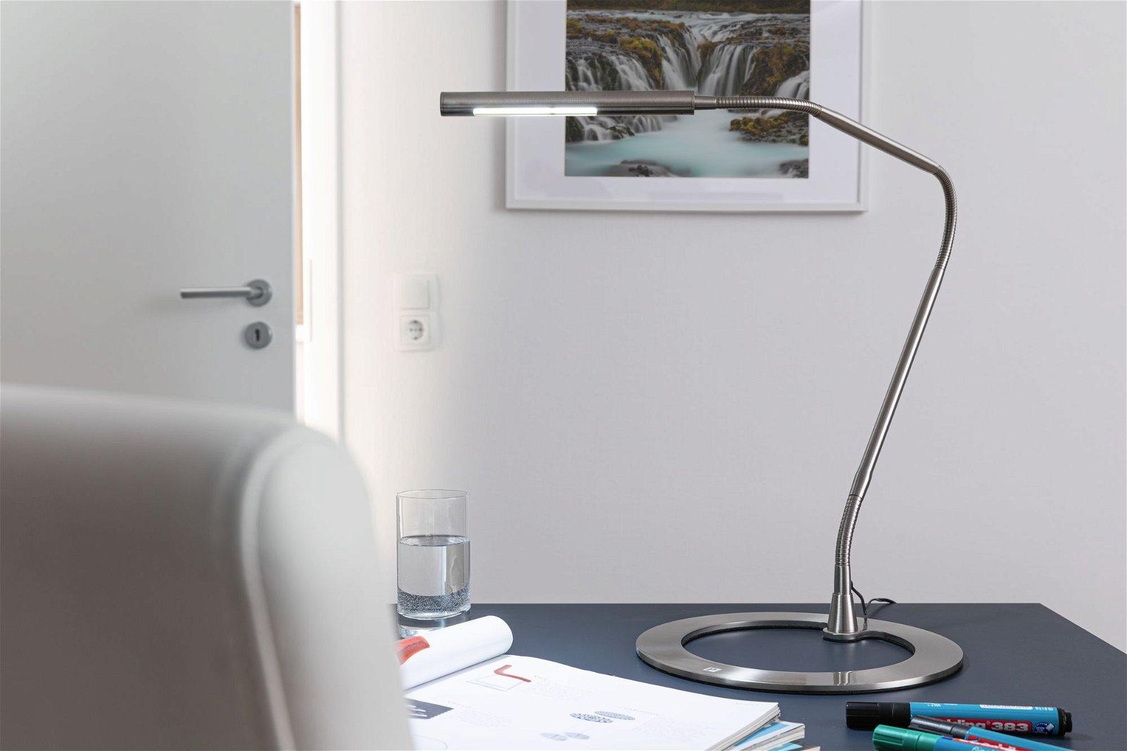 LED-bureaulamp Plaza 6000 - 7000K 240lm 3W Staal geborsteld