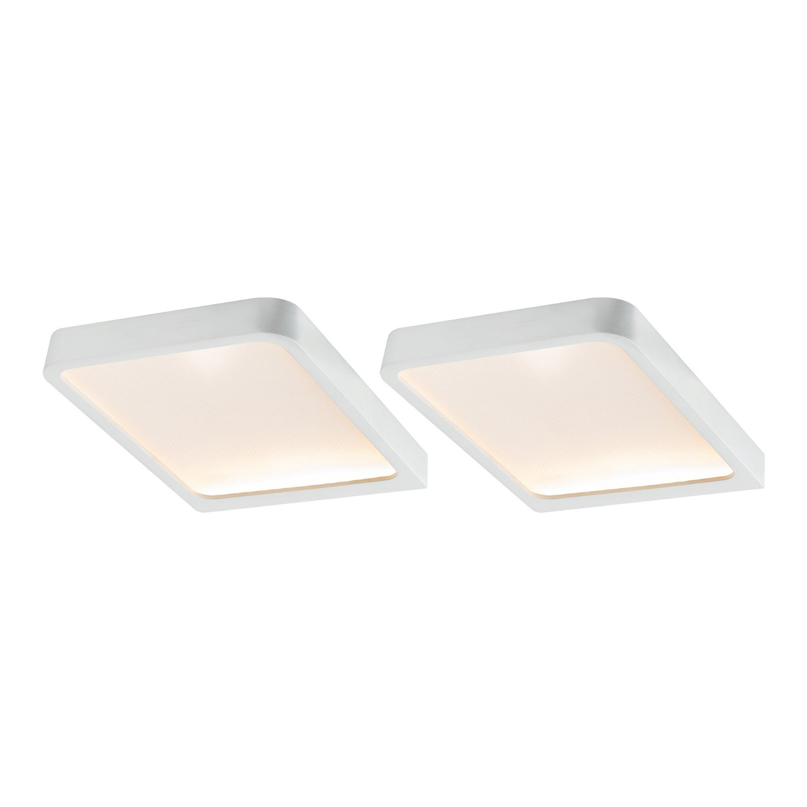 LED Unterschrankleuchte Vane 2x6,7W 105x140mm 2x450lm 230/12V eckig Weiß matt