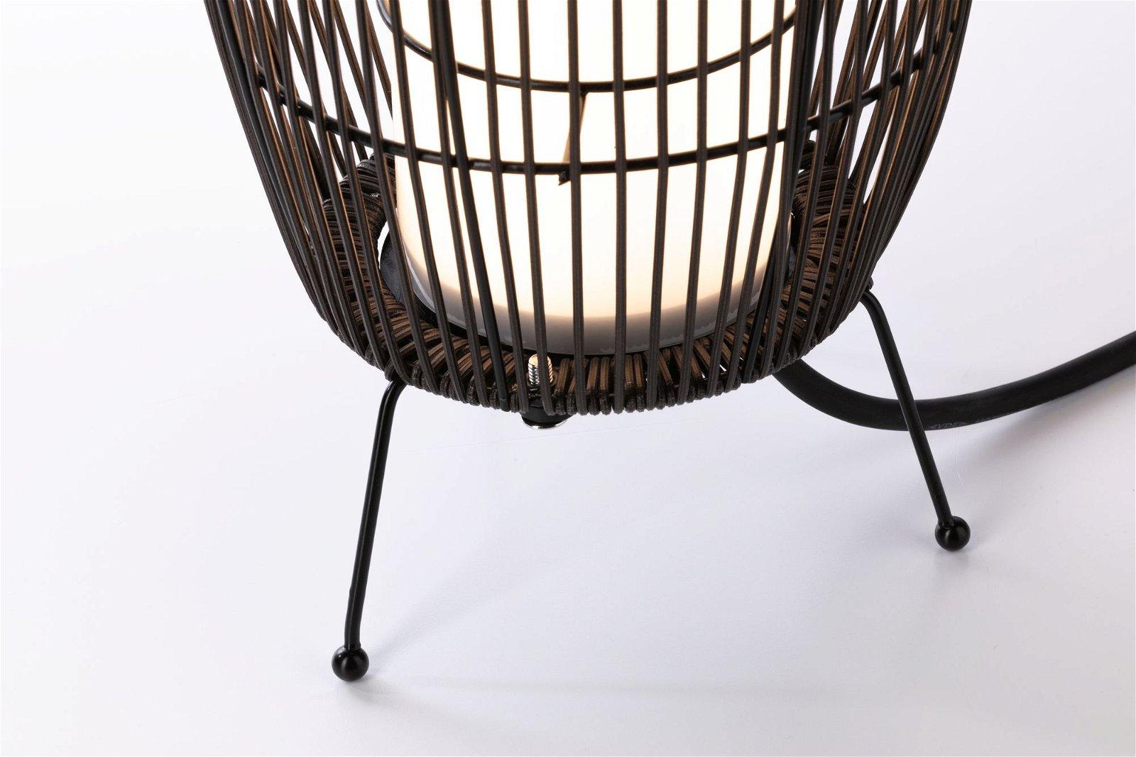 Plug & Shine Objet lumineux LED Basket IP44 3000K 8W Brun