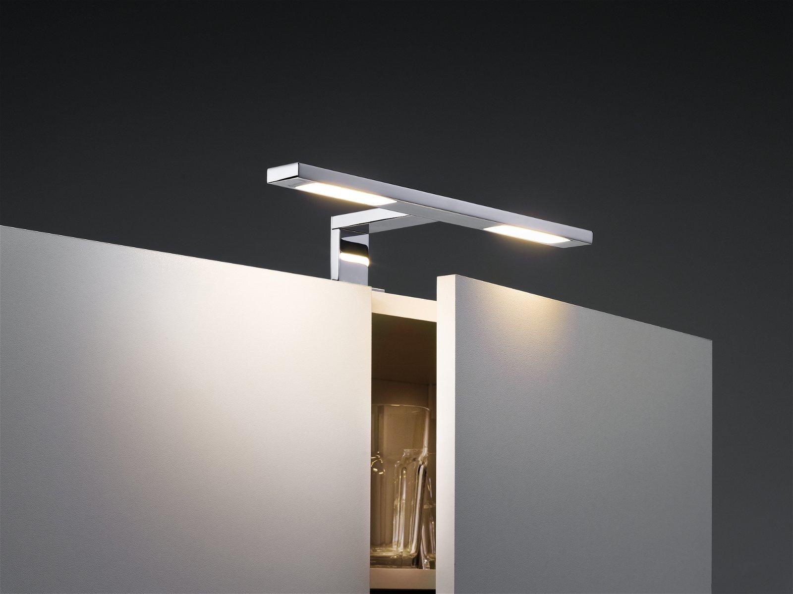 Galeria LED Spiegelleuchte Hook IP44 2700K 2x378lm 230V 2x3,2W Chrom