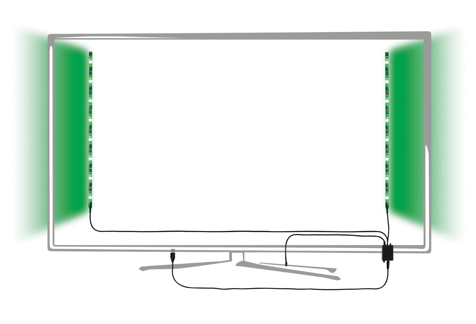 Strip USB LED 0,5m 2x1,25W 80lm/m