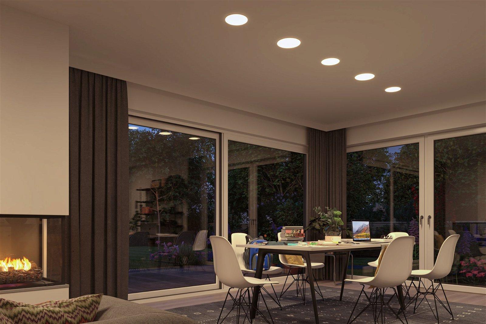 VariFit LED Einbaupanel Smart Home Zigbee Veluna IP44 IP44 rund 215mm 1900lm Tunable White Satin