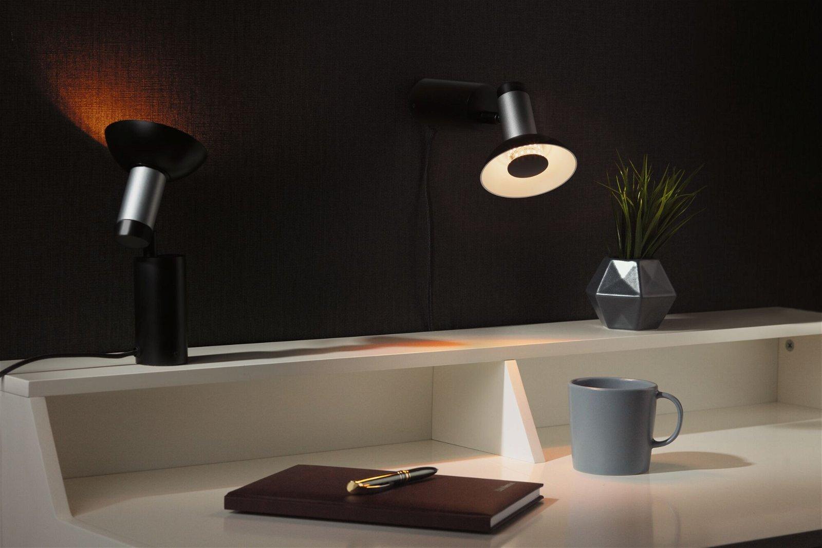 LED Reflektor GU10 230V 170lm 4,9W 1900K Schwarz/Gold